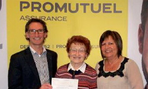 Winner of the Take a payment holiday for 1 year contest - Promutuel Insurance Bois-Francs