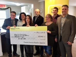 $18,000 donated in Val-Saint-François
